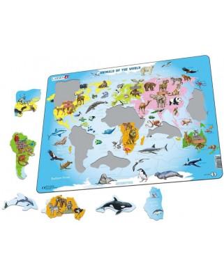 Puzzle Larsen - Animals of the World (in Dutch), 28 piese (59475)