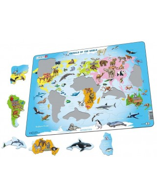 Puzzle Larsen - Animals of the World, 28 piese (58334)