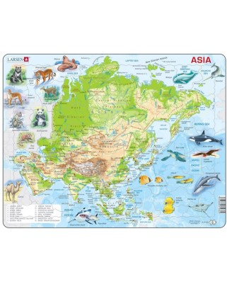 Puzzle Larsen - Asia (English), 63 piese (48695)
