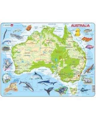 Puzzle Larsen - Australia (English), 65 piese (48696)