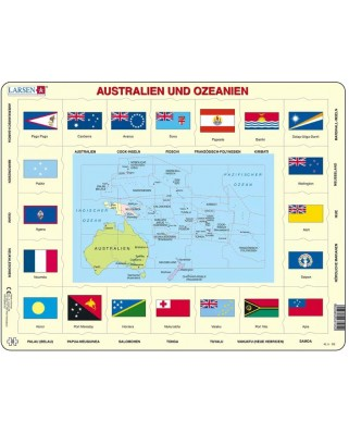 Puzzle Larsen - Australia and Oceania (in German), 35 piese (63326)