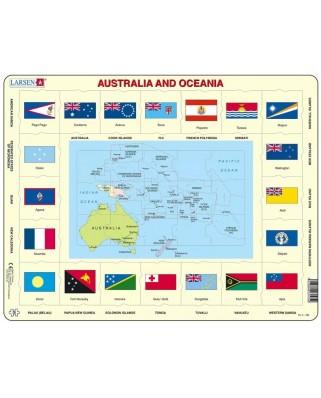 Puzzle Larsen - Australia and Oceania, 35 piese (63327)