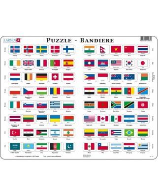 Puzzle Larsen - Bandiere, 80 piese (63332)