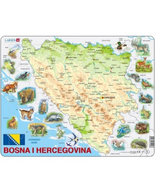 Puzzle Larsen - Bosnia and Herzegovina with Animals, 57 piese (48365)