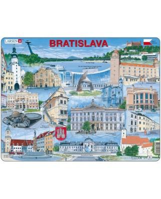 Puzzle Larsen - Bratislava (Englisch), 65 piese (48657)