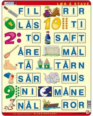 Puzzle Larsen - Buchstabieren lernen 2 (auf Norwegisch), 23 piese (48674)