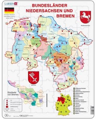 Puzzle Larsen - Bundesland: Bremen and Niedersachen, 70 piese (48189)