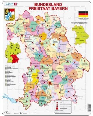 Puzzle Larsen - Bundesland: Freistaat Bayern, 70 piese (48187)