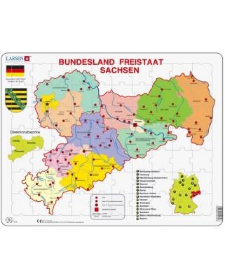Puzzle Larsen - Bundesland: Freistaat Sachsen, 70 piese (48193)