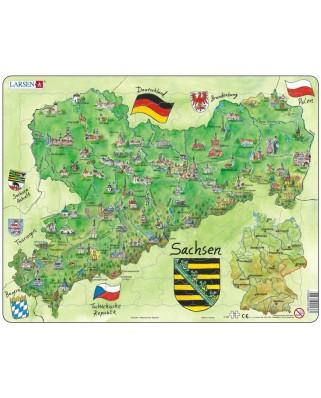 Puzzle Larsen - Bundesland: Sachsen, 72 piese (48195)