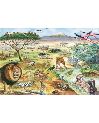 Puzzle Schmidt - Animals of East Africa, 200 piese, include 1 poster (56292)