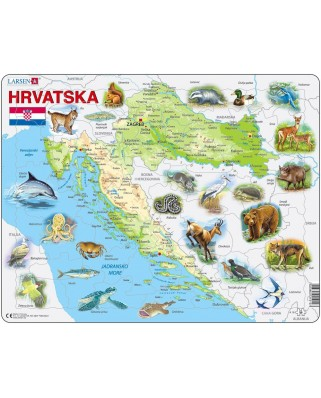 Puzzle Larsen - Croatia with Animals, 54 piese (48364)