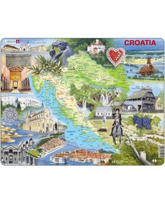 Puzzle Larsen - Croatia, 65 piese (48366)