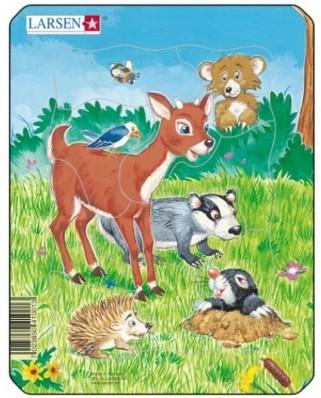 Puzzle Larsen - Cute Animals, 10 piese (48507)
