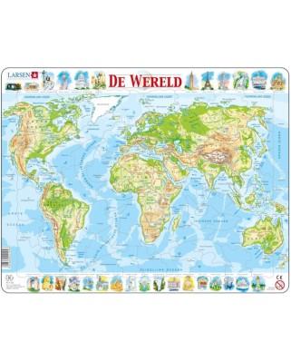 Puzzle Larsen - De Wereld (in Dutch), 80 piese (59509)