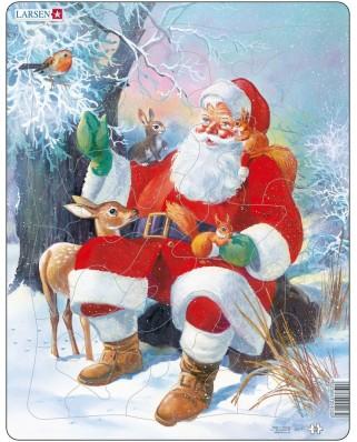 Puzzle Larsen - Der Weihnachtsmann im Wald, 32 piese (48439)