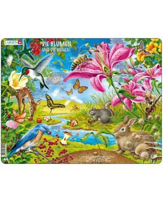 Puzzle Larsen - Die Blumen und die Bienen, 55 piese (48776)