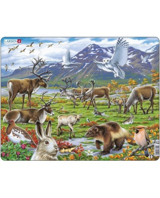 Puzzle Larsen - Die Tiere Lapplands, 50 piese (48417)