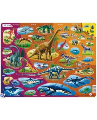 Puzzle Larsen - Dinosaurier (auf Franzosisch), 85 piese (48697)