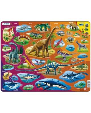 Puzzle Larsen - Dinosaurs (in Dutch), 85 piese (59490)