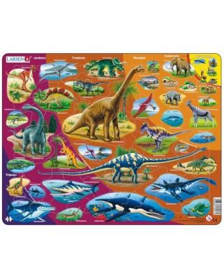 Puzzle Larsen - Dinosaurs (in Spanish), 85 piese (59488)