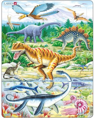 Puzzle Larsen - Dinosaurs, 35 piese (48419)