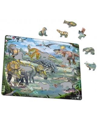 Puzzle Larsen - Dinosaurs, 65 piese (50882)