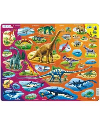 Puzzle Larsen - Dinosaurs, 85 piese (59489)