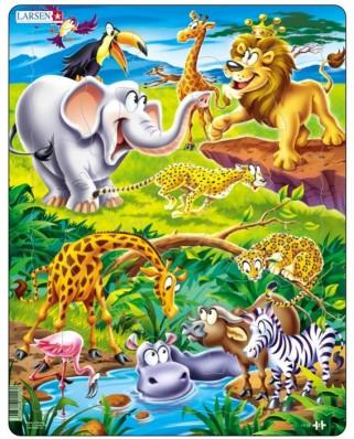 Puzzle Larsen - Dschungeltiere, 18 piese (48731)