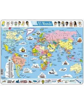 Puzzle Larsen - El Mundo (in Spanish), 107 piese (59504)