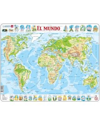 Puzzle Larsen - El Mundo (in Spanish), 80 piese (59508)
