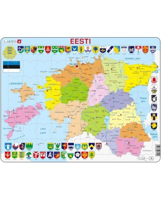 Puzzle Larsen - Estonia Political Map, 70 piese (48454)