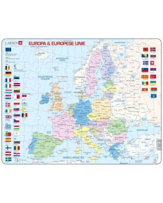 Puzzle Larsen - Europa & Europese Unie (in Dutch), 70 piese (59510)