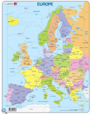 Puzzle Larsen - Europe (English), 37 piese (48691)
