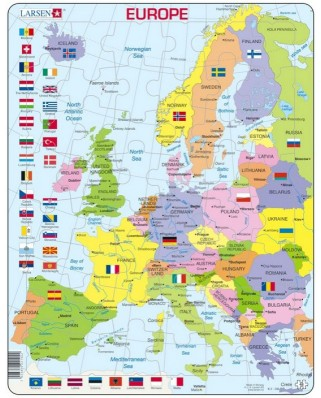 Puzzle Larsen - Europe (English), 48 piese (48738)