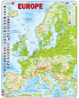 Puzzle Larsen - Europe (French), 87 piese (48744)