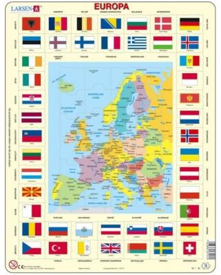 Puzzle Larsen - Europe (in Dutch), 70 piese (59516)