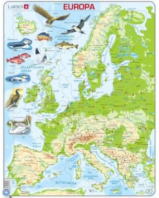 Puzzle Larsen - Europe, 87 piese (48622)