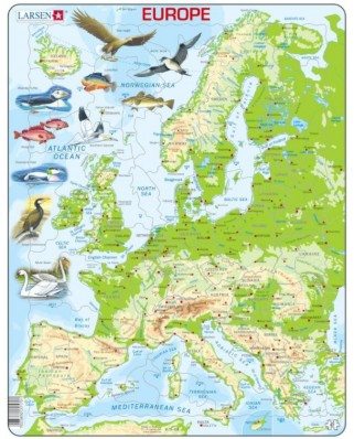 Puzzle Larsen - Europe, 87 piese (59512)