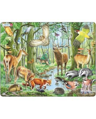 Puzzle Larsen - European Forest, 40 piese (48420)