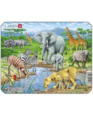 Puzzle Larsen - Exotic Animals, 11 piese (48485)