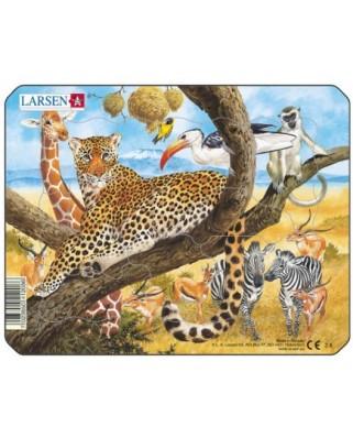 Puzzle Larsen - Exotic Animals, 11 piese (48486)