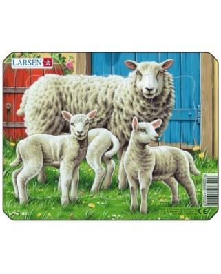 Puzzle Larsen - Farm Animals, 7 piese (48509)