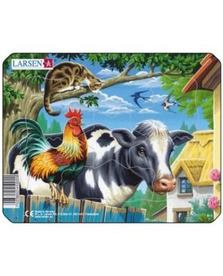 Puzzle Larsen - Farm Animals, 7 piese (48510)