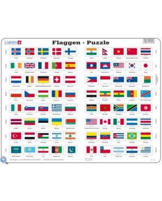 Puzzle Larsen - Flaggen der Welt, 80 piese (48662)