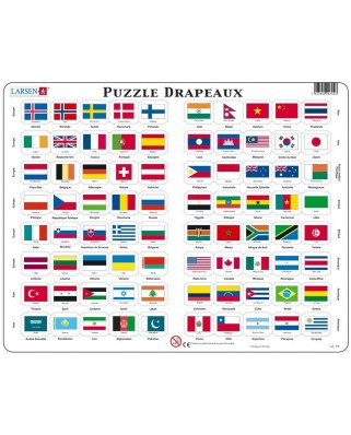 Puzzle Larsen - Flags (in French), 80 piese (48746)