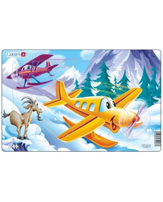 Puzzle Larsen - Flugzeuge in den Bergen, 13 piese (48559)