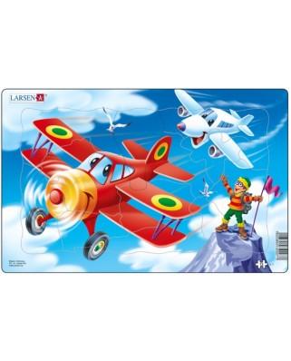 Puzzle Larsen - Flugzeuge, 13 piese (48560)