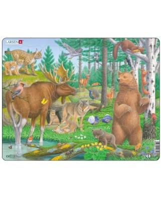 Puzzle Larsen - Forest Animals, 29 piese (63269)