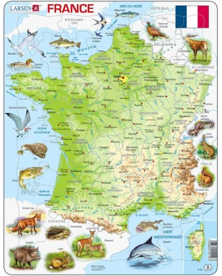 Puzzle Larsen - France (in French), 60 piese (48528)